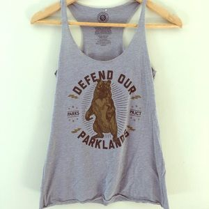 Parks project tank top size small gray